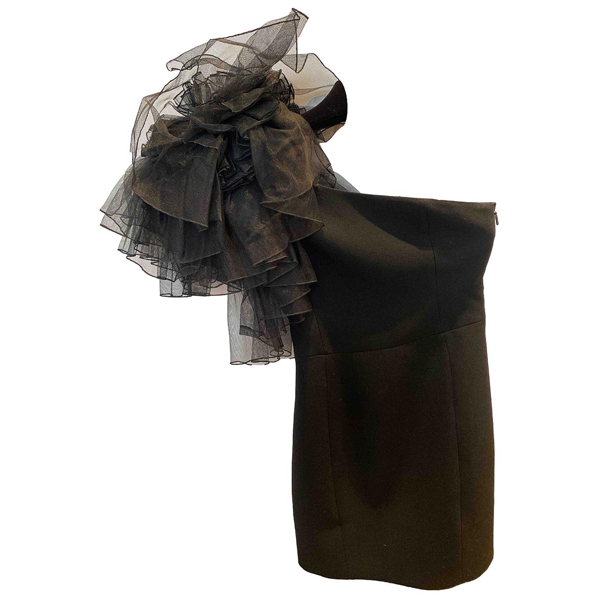 Saint Laurent \N Black Wool dress for Women 36 FR
