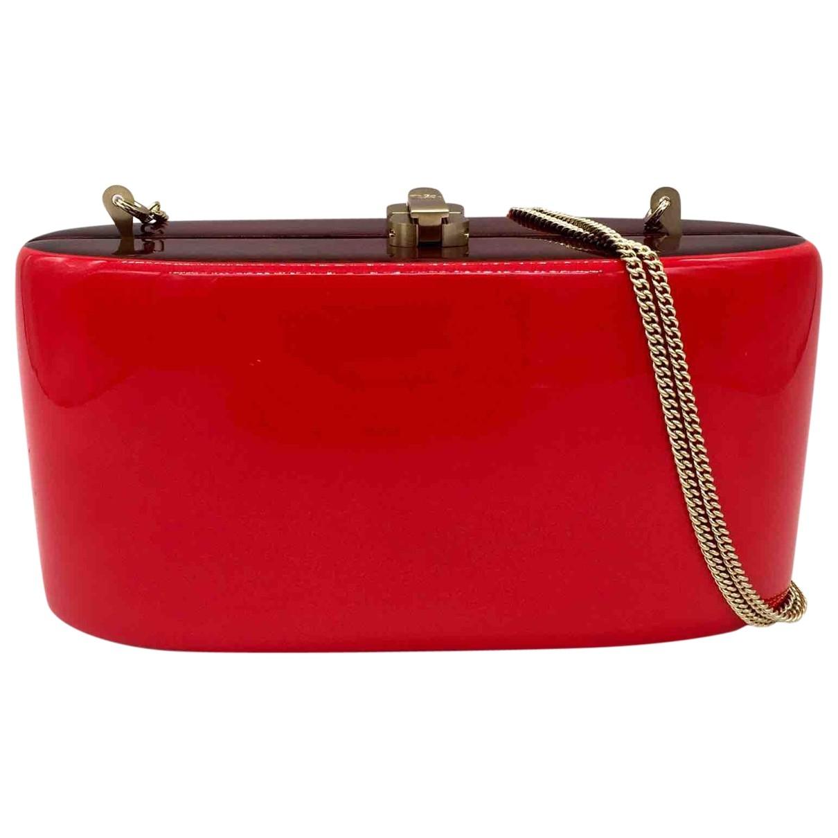 Bolsos clutch en Ante Rojo Rocio