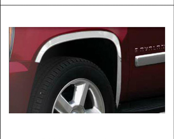 Quality Automotive Accessories 4-Piece Stainless Steel Wheel Well Fender Chevrolet Avalanche 2007