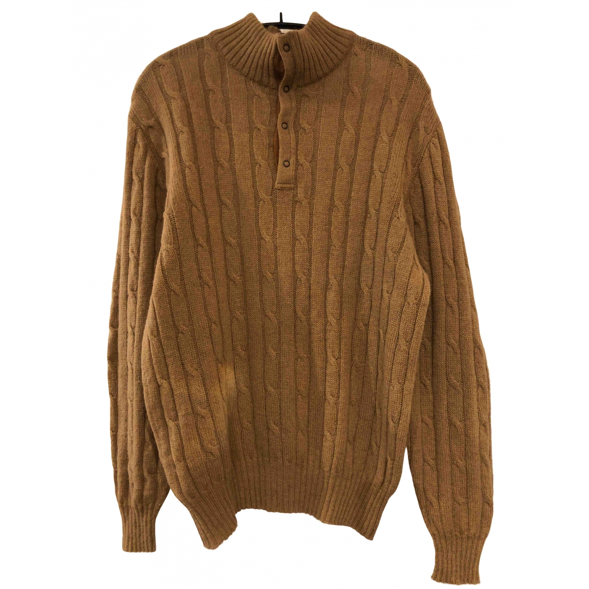 Non Signé / Unsigned \N Camel Wool Knitwear & Sweatshirts for Men 4 0 - 6
