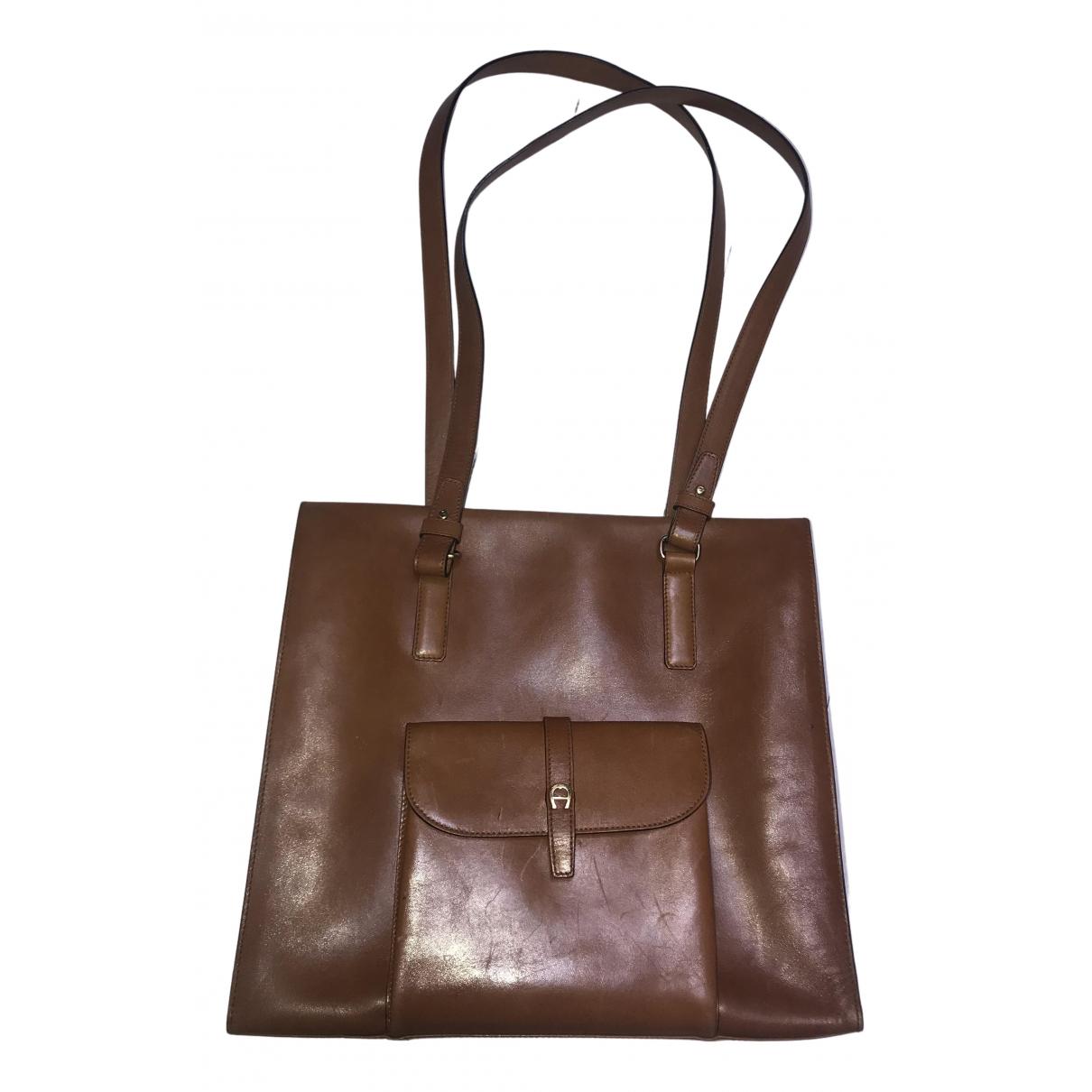 Aigner N Camel Leather handbag for Women N