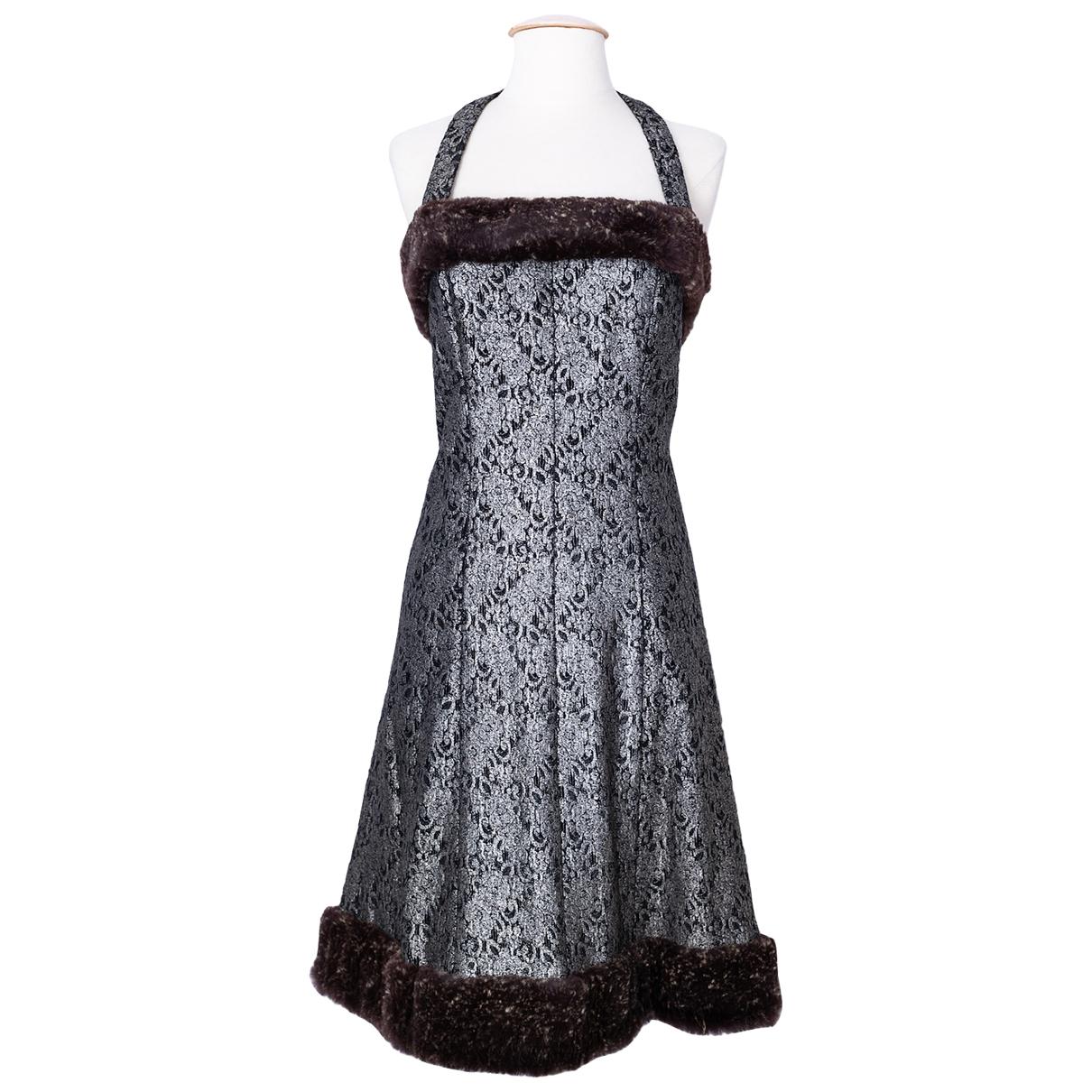 Chanel N Grey Rabbit dress for Women 34 FR