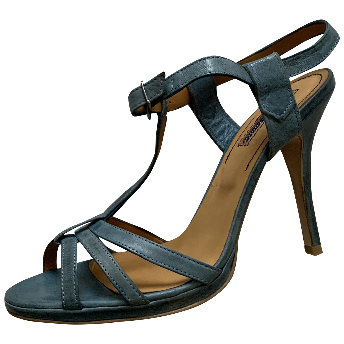 Atelier Voisin - Sandales   pour femme en cuir - bleu
