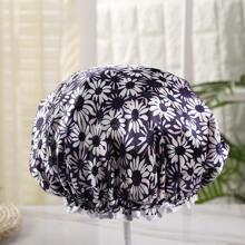 Flower Print Shower Cap