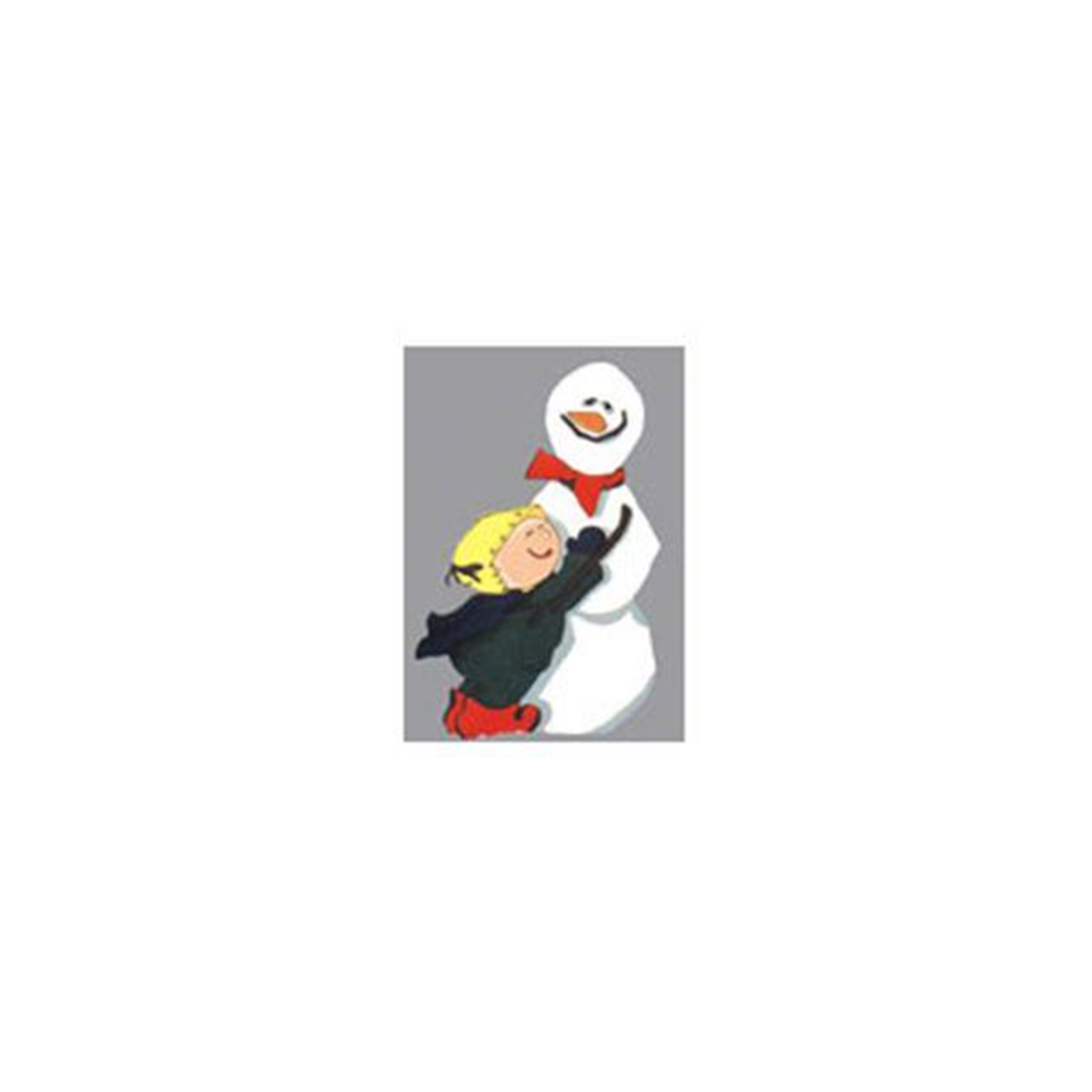 Woodworking Project Paper Plan to Build Snowman with Child