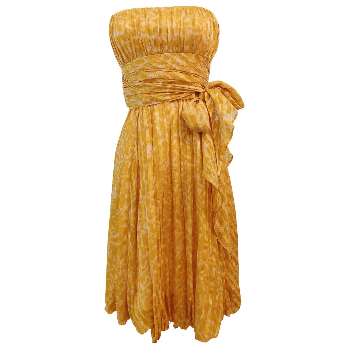 Bcbg Max Azria \N Gold Silk dress for Women 2 US