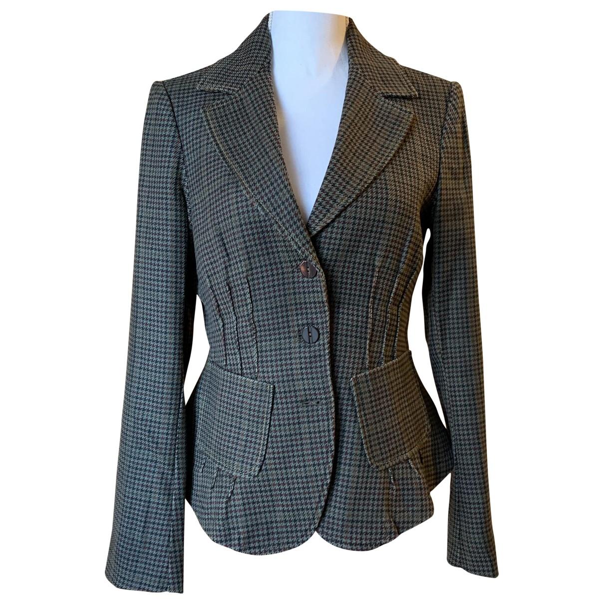 Patrizia Pepe \N Brown Wool jacket for Women 44 IT