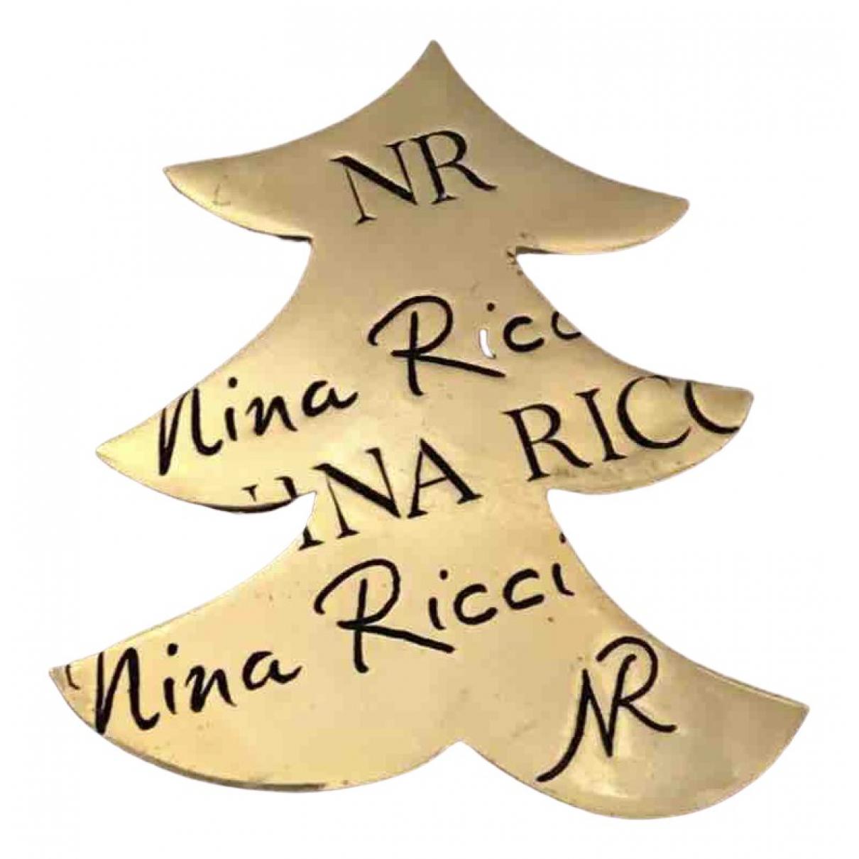 Nina Ricci \N Brosche in  Gold Metall
