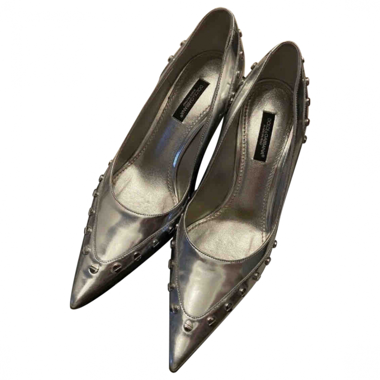 Dolce & Gabbana \N Silver Patent leather Heels for Women 36 EU