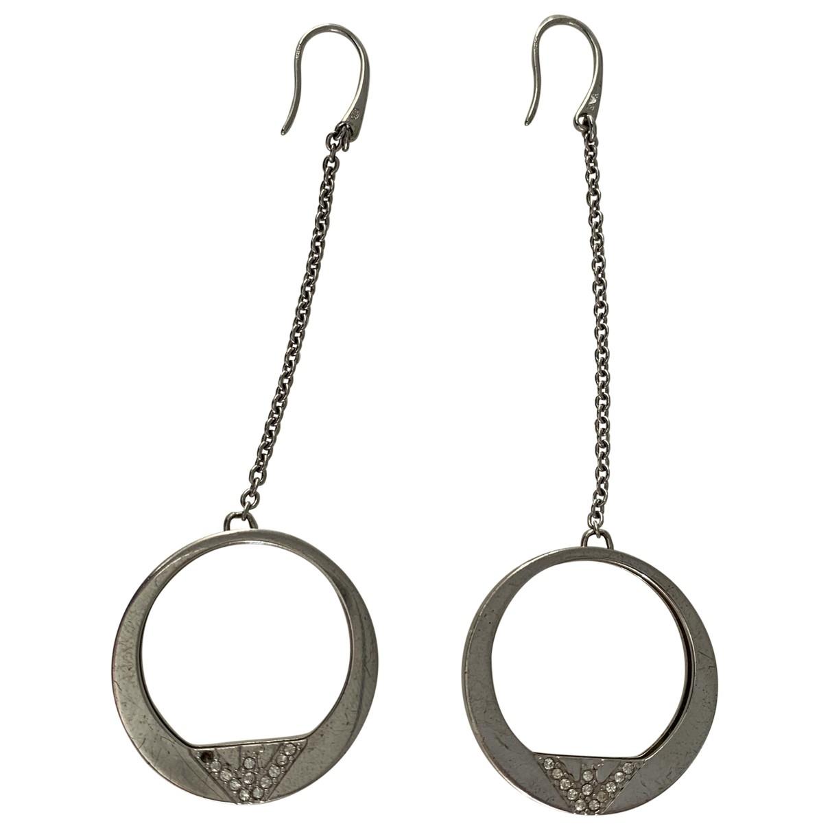 Emporio Armani - Boucles doreilles   pour femme en argent - argente