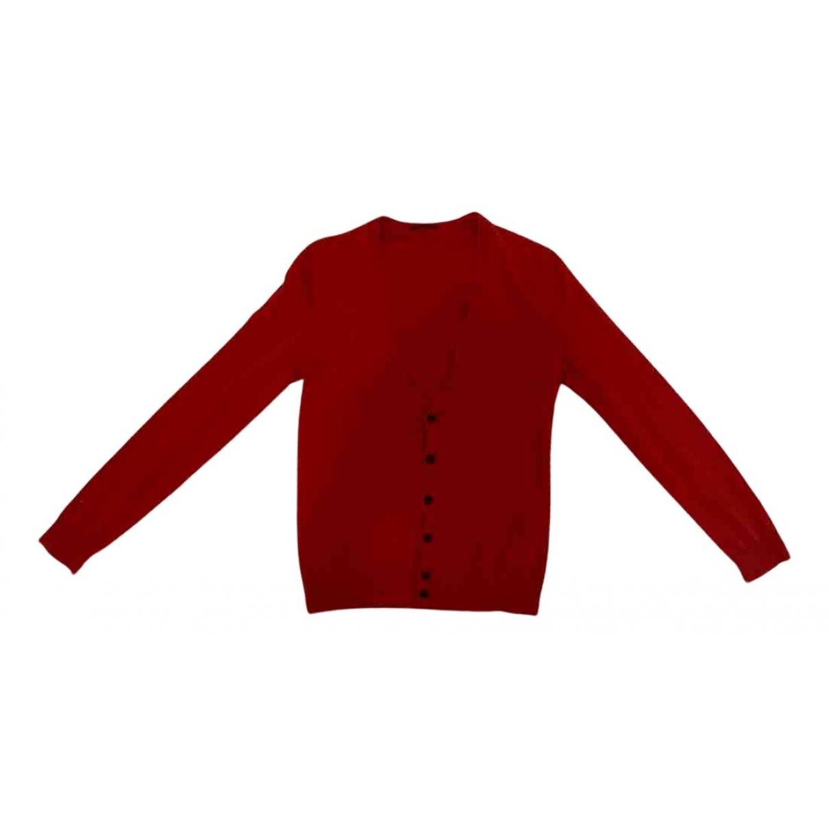 Benetton - Pull   pour femme en coton - rouge