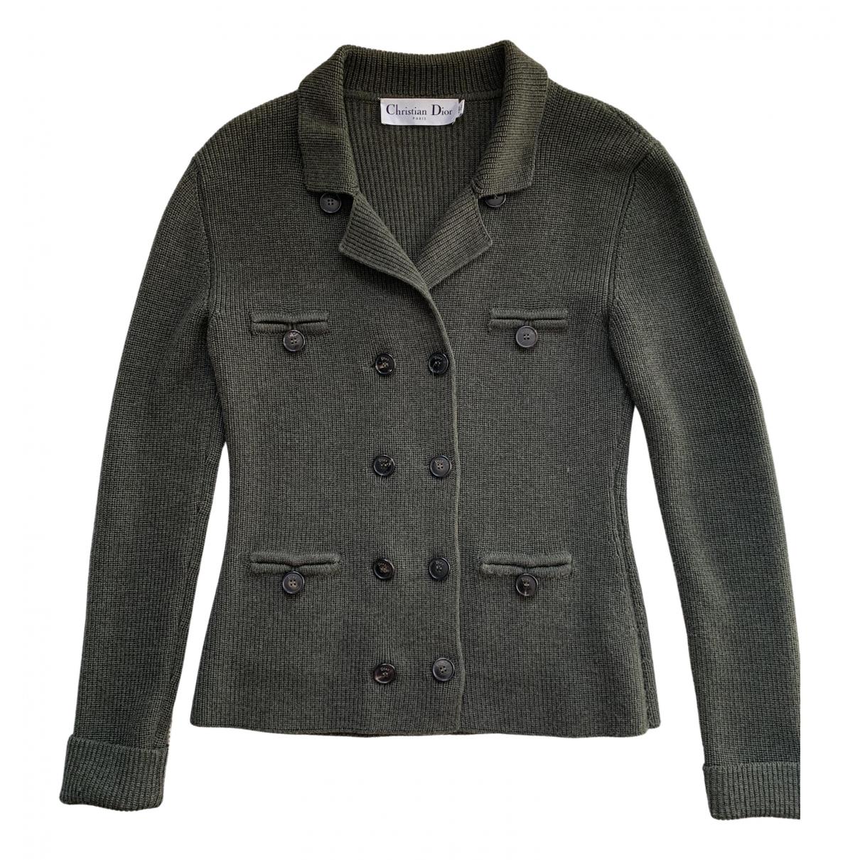 Dior \N Jacke in  Khaki Wolle