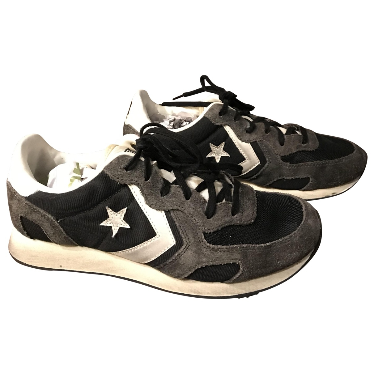 Converse \N Black Leather Trainers for Women 38 EU