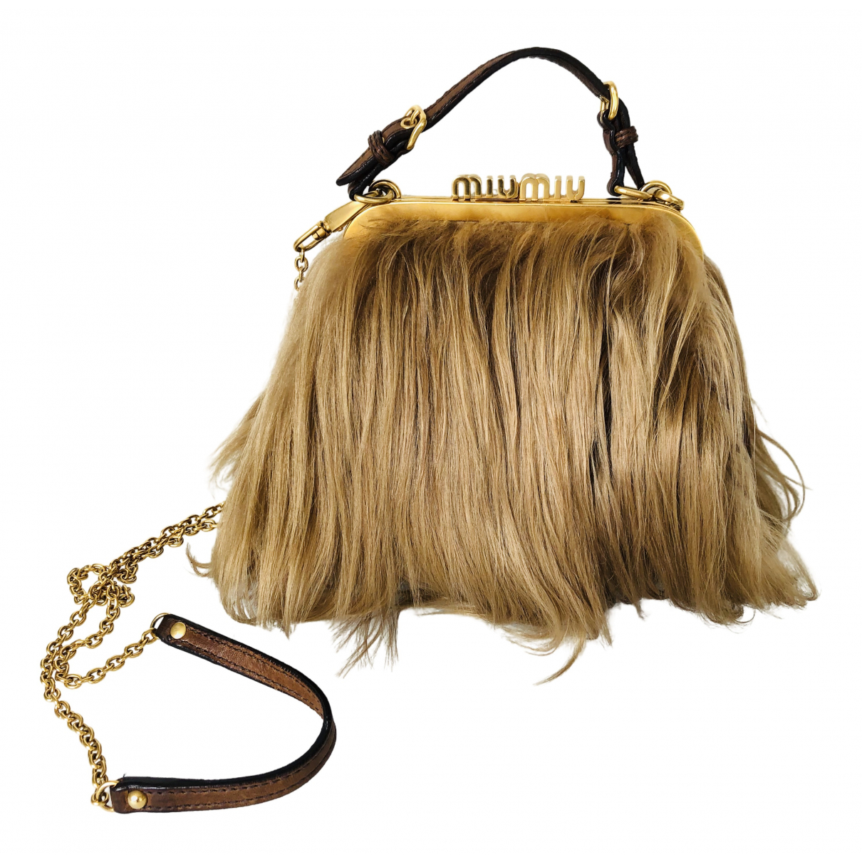 Miu Miu \N Camel Mongolian Lamb handbag for Women \N