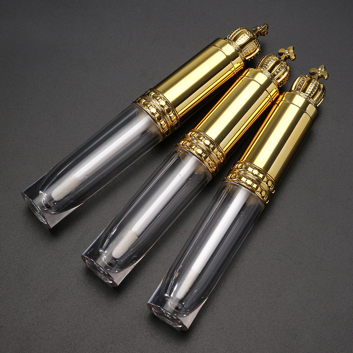 8 ML Empty Liquid Lip Gloss Tube Refillable Queen Gold Crown Container Case Eyelash Lipstick Bottle
