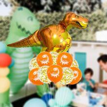13 piezas set globo con dinosaurio