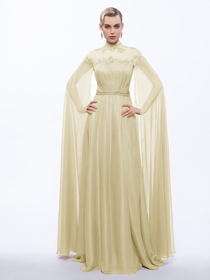 Ericdress High Neck Button Sequins Evening Dress
