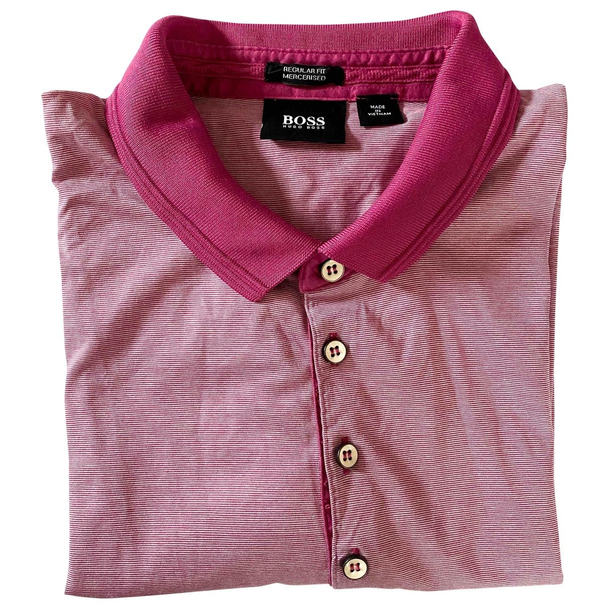 Boss - Polos   pour homme en coton - rose