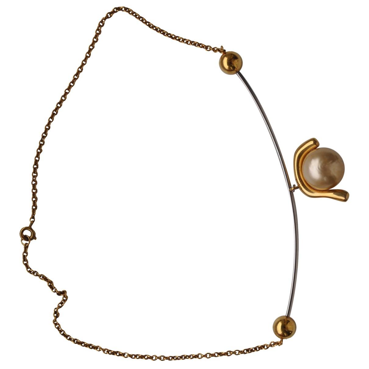 Celine - Collier Baroque pour femme en perle - beige