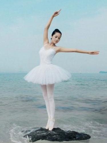 Milanoo Disfraz Halloween Vestido del Ballet Spandex Lycra caprichoso blanco para las mujeres Halloween