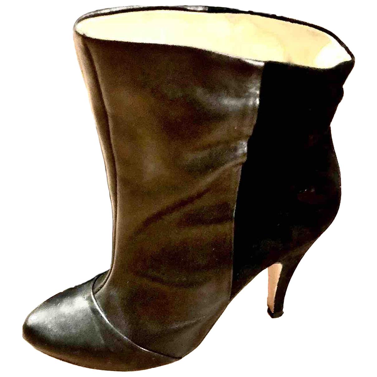 Pierre Cardin \N Stiefeletten in  Schwarz Leder
