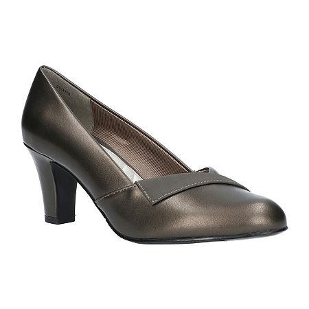 Easy Street Womens Casper Pumps Spike Heel, 11 Wide, Gray