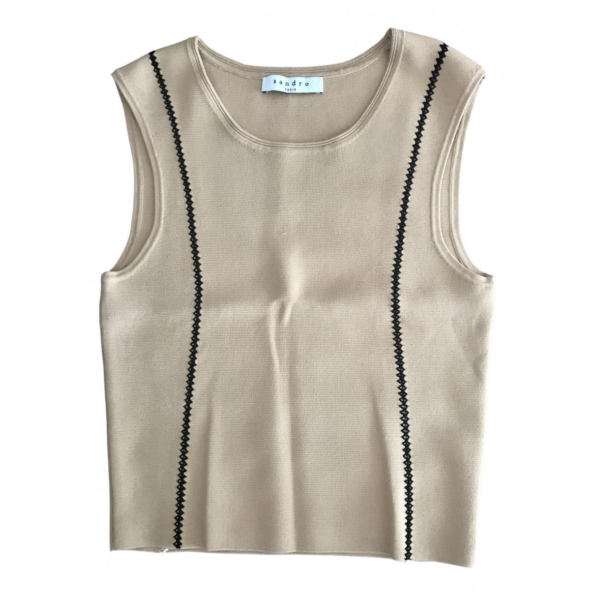 Sandro \N Beige Knitwear for Women 38 FR