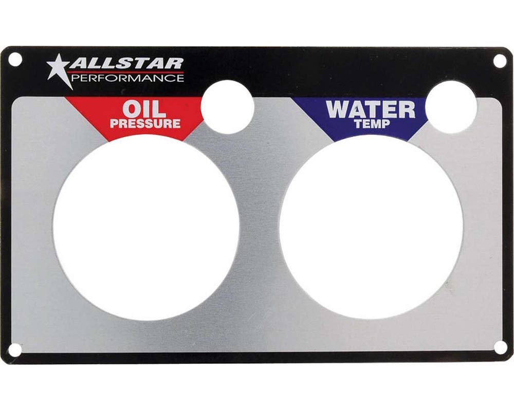 Allstar Performance ALL80125 Replacement 2 Gauge Panel OP/WT ALL80125