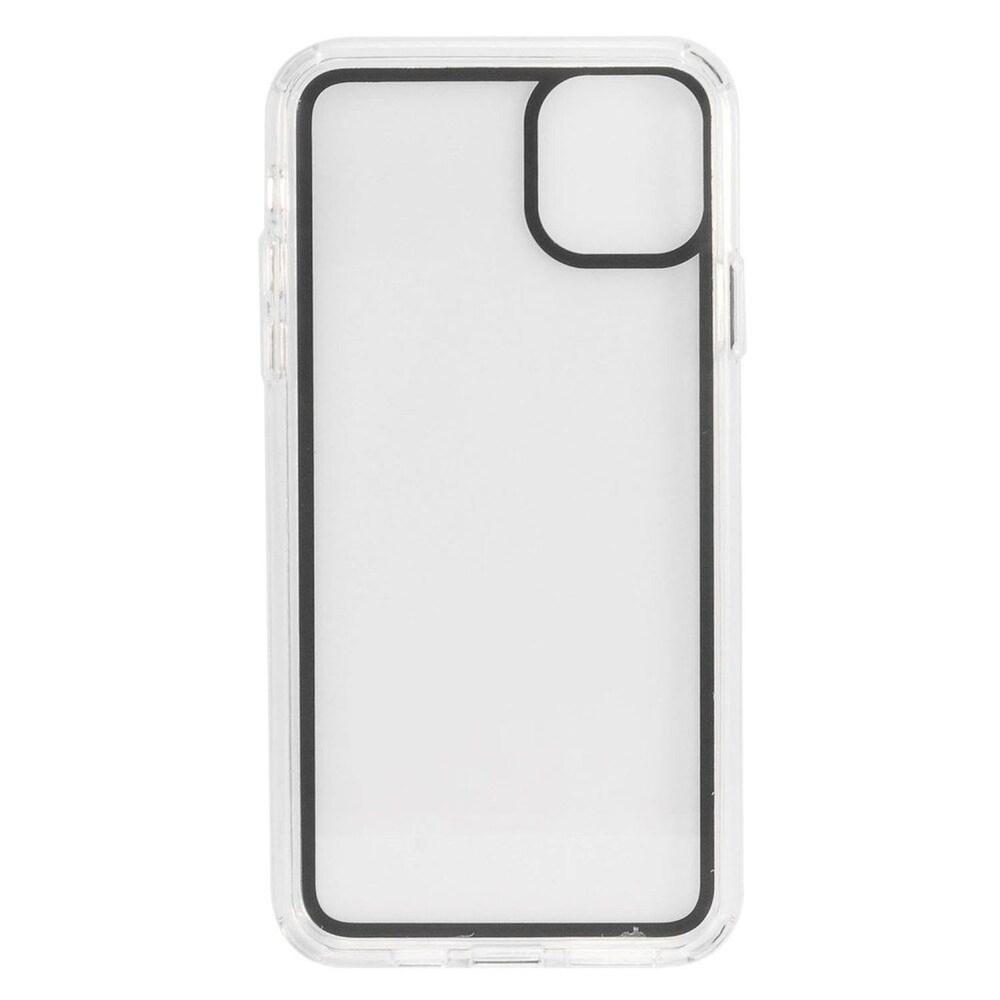 Insten Bumper Acrylic Transparent Plastic TPU Cover Case For Apple iPhone 11 Pro - Black (Black)