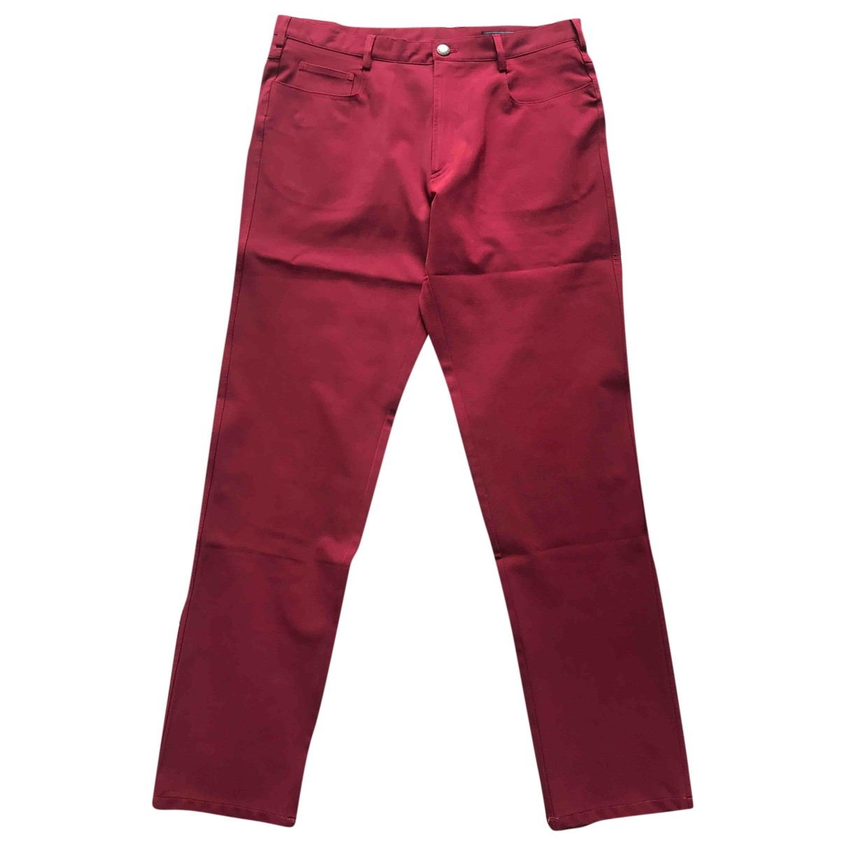 Prada \N Red Spandex Trousers for Men 50 IT