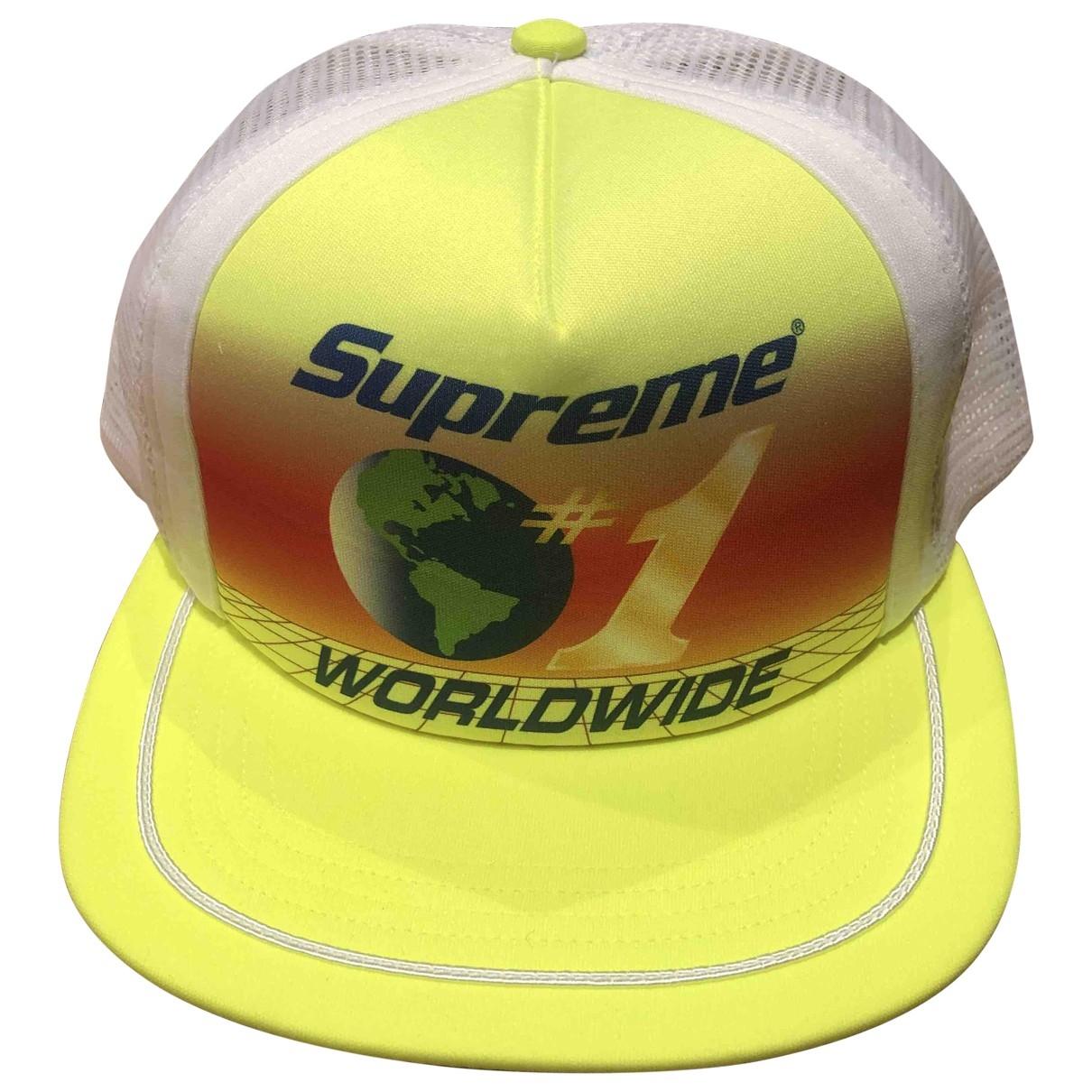 Supreme \N Hut, Muetzen in  Gelb Polyester