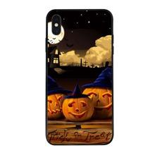iPhone Etui mit Halloween Kuerbis Muster