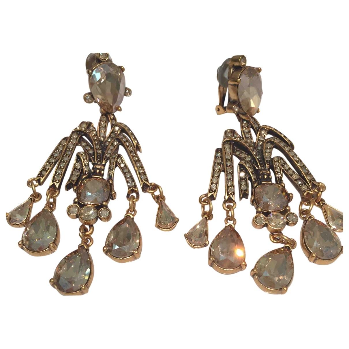 Oscar De La Renta - Boucles doreilles   pour femme en or et acier - dore