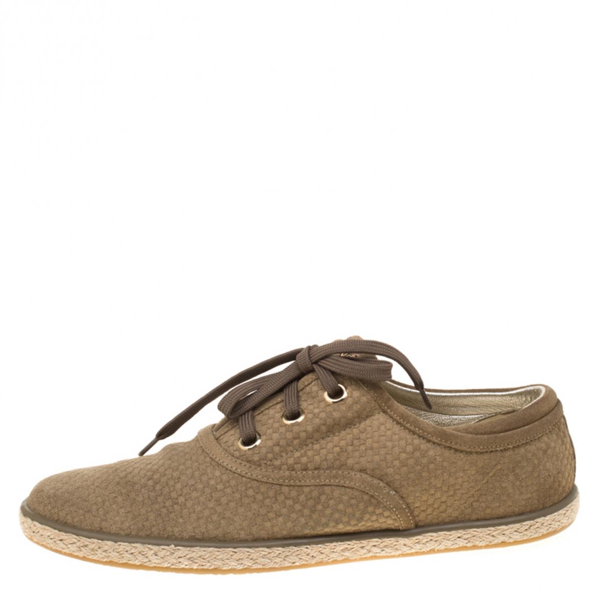 Louis Vuitton \N Sneakers in  Gruen Veloursleder