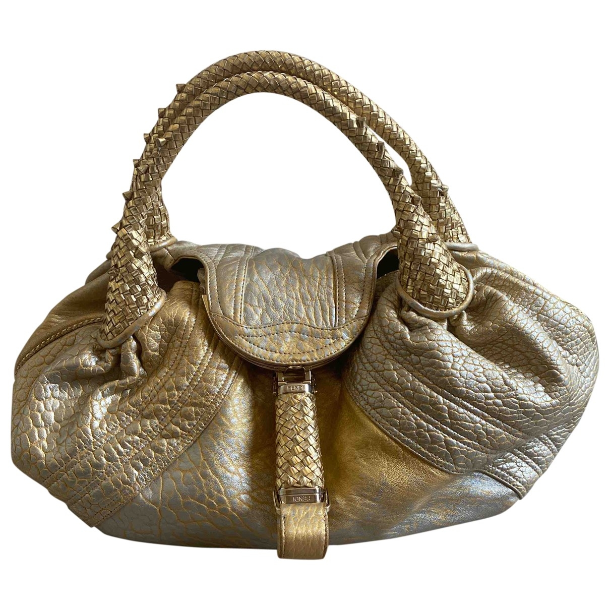 Fendi Spy Handtasche in  Gold Leder