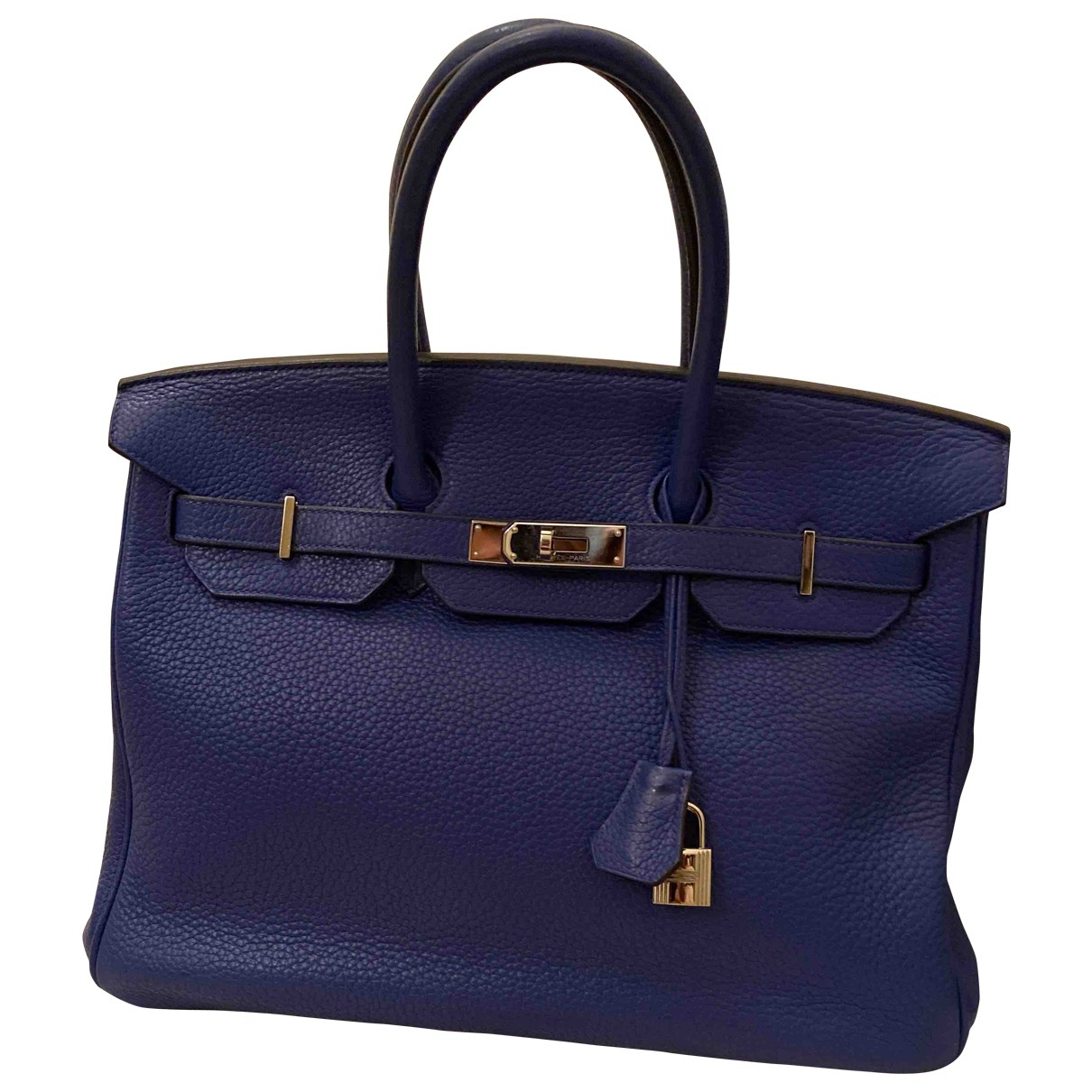 Hermès Birkin 35 Blue Leather handbag for Women \N