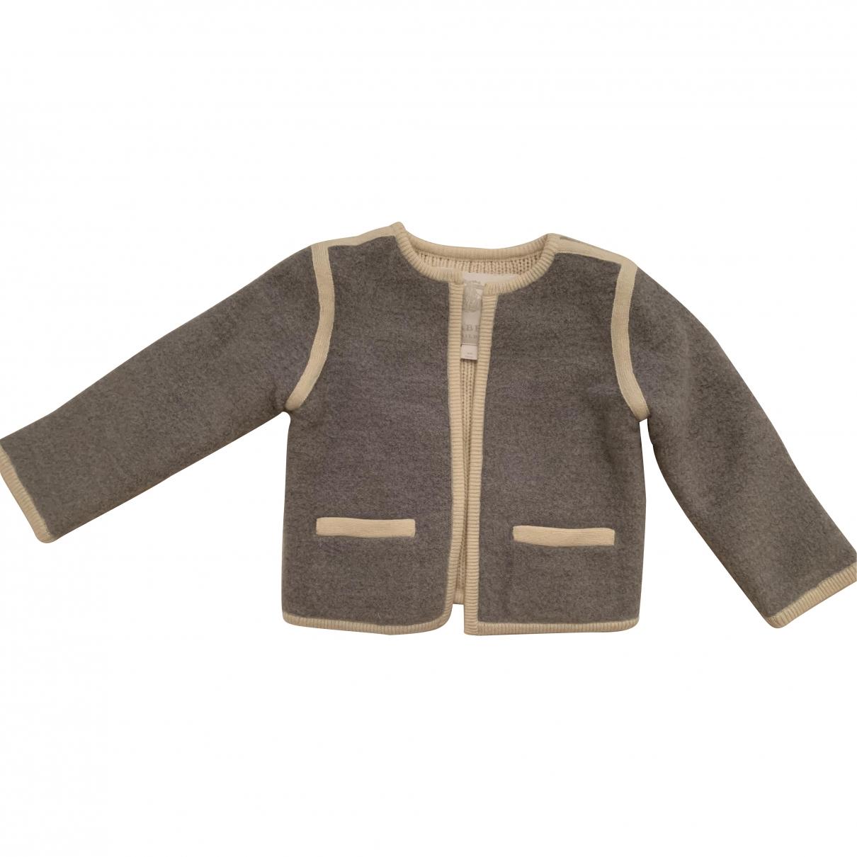 Burberry - Pull   pour enfant en laine - gris