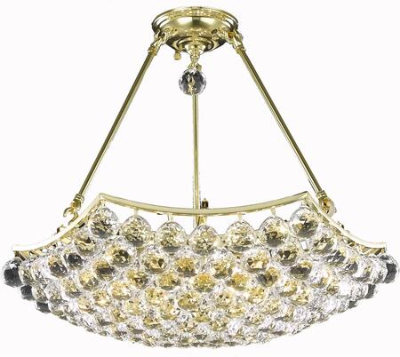 V9802D22G/RC 9802 Corona Collection Chandelier D:22In H:17In Lt:6 Gold Finish (Royal Cut