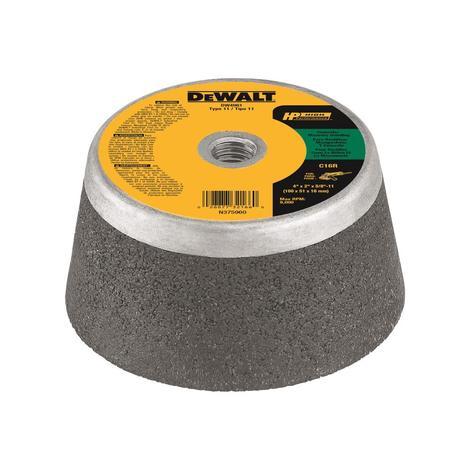 DeWalt 4 In. x 2 In. x 5 In. 5-11 Concrete Cup Wheel