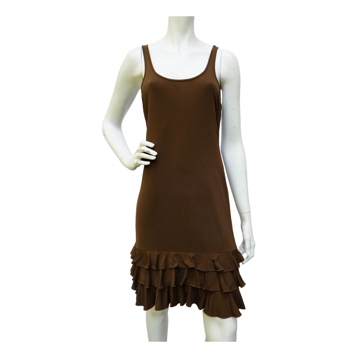 Jean Paul Gaultier \N Kleid in  Braun Synthetik
