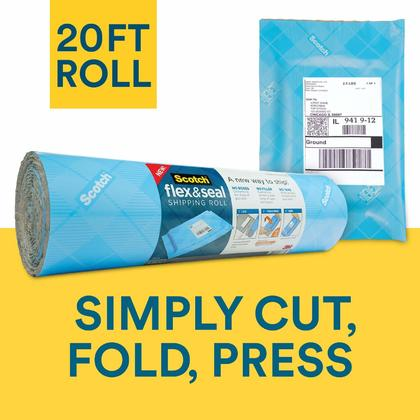 Scotch® Flex & Seal Shipping Roll, Mailing Envelope Shipping Supply, 20 Ft