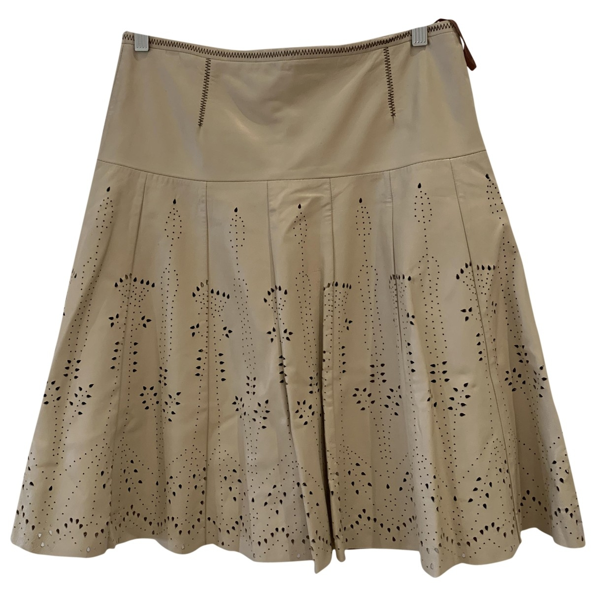Falda midi de Cuero Hoss Intropia