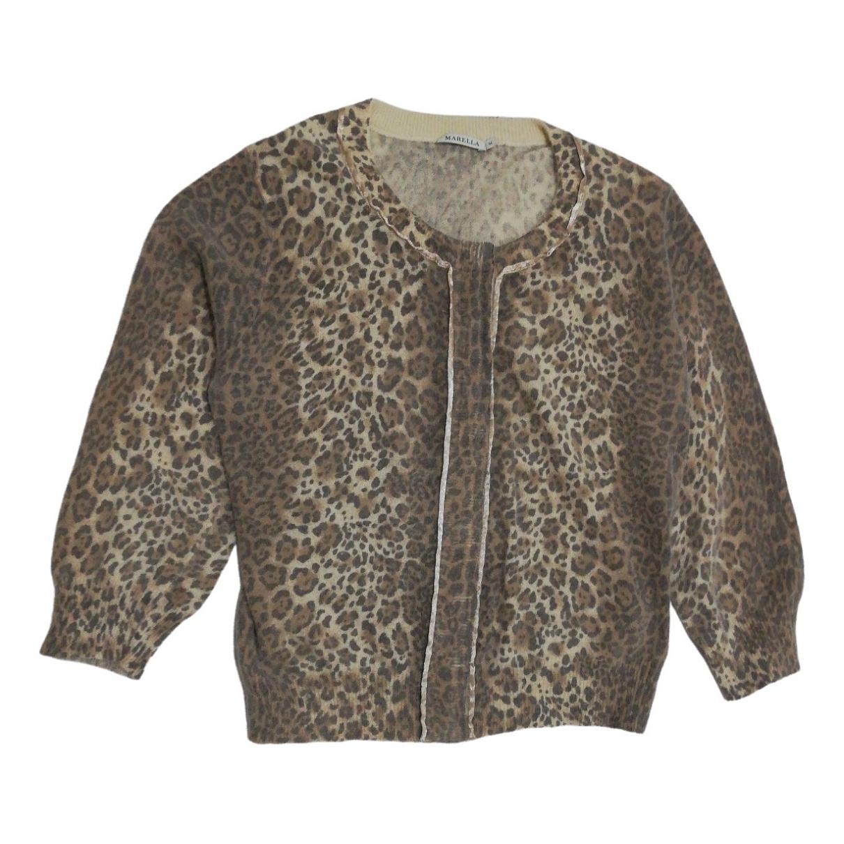 Marella - Pull   pour femme en coton - multicolore