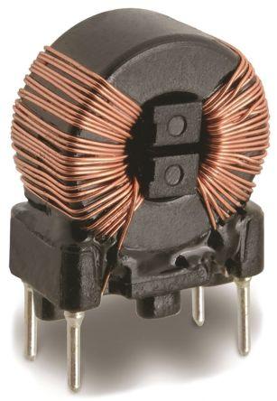 Wurth Elektronik Wurth 2 x 1 mH -30 → +50% Nano Crystalline Common Mode Choke, Max SRF:1 kHz → 300 MHz, 2.5A Idc, 2 x 55mΩ