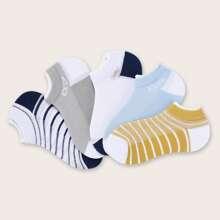 5 Paare Kleinkind Kinder Socken mit Streifen Muster