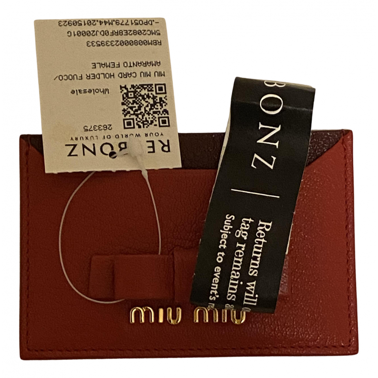 Miu Miu \N Kleinlederwaren in  Rot Leder