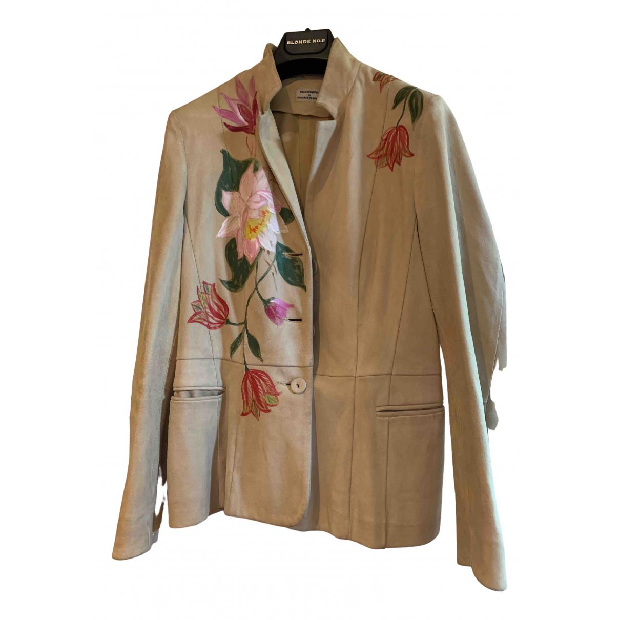 Philosophy Di Alberta Ferretti \N Beige Suede jacket for Women 38 FR