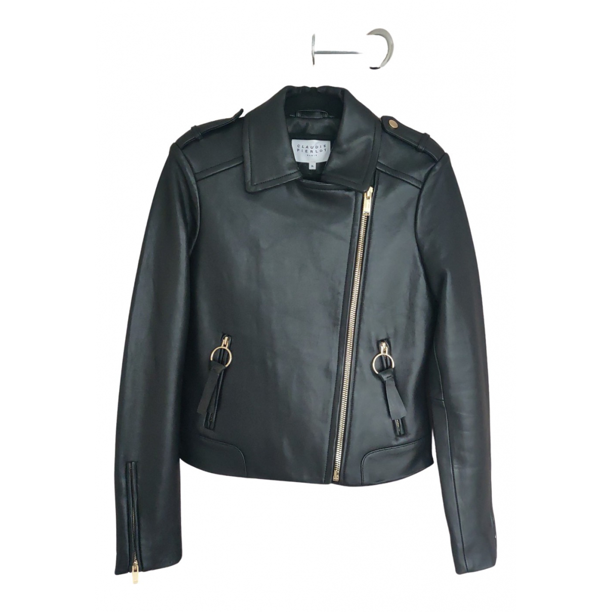 Claudie Pierlot Fall Winter 2019 Black Leather Leather jacket for Women 36 FR