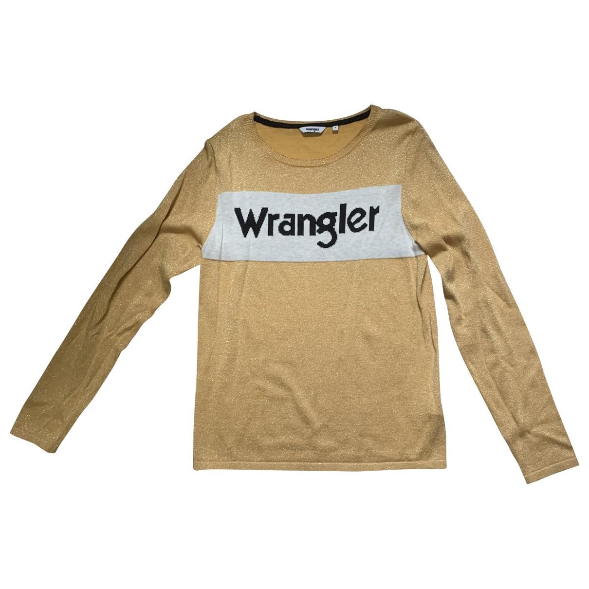 Wrangler - Pull   pour femme en coton - dore