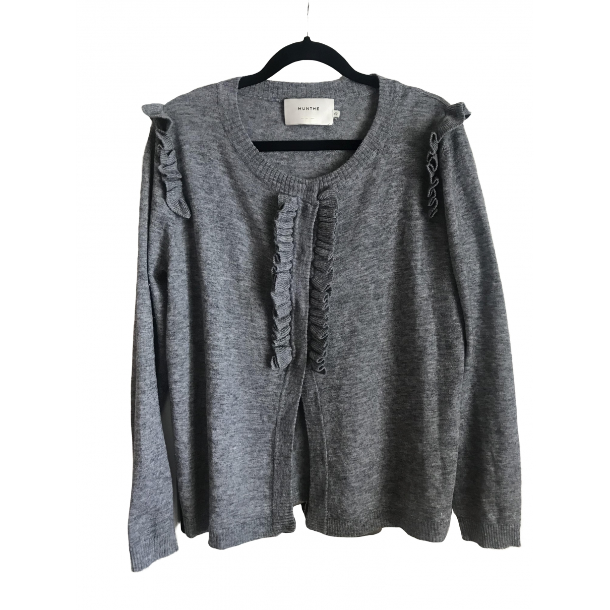 Munthe \N Pullover in  Grau Wolle